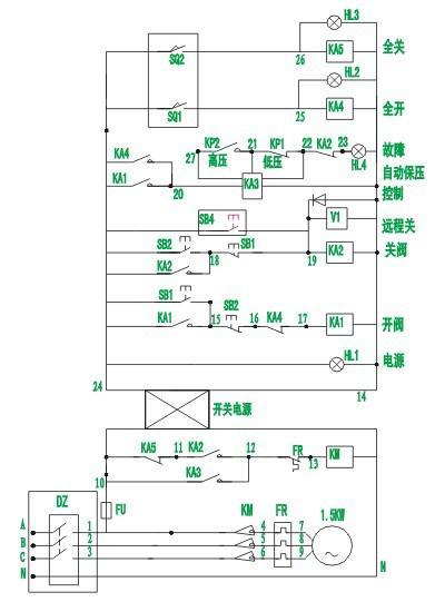 连接行程开关和控制箱25